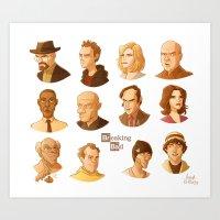 Breaking Bad caricatures Art Print