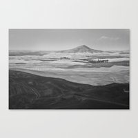 Steptoe Butte (B&W) Canvas Print