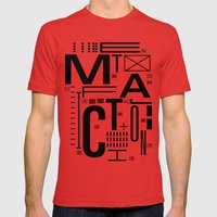 METAL FICTION Mens Fitted Tee Red SMALL