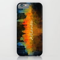iPhone Cases featuring Atlanta City Skyline UHq v4 by hqphoto