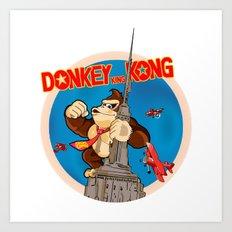 Donkey King Kong Art Print