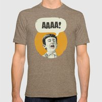 AAAA! (Golden) Mens Fitted Tee Tri-Coffee SMALL