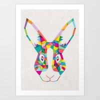 Rainbow Rabbit Art Print