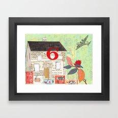 House Number 6 Framed Art Print