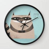 Sneaky Raccoon Wall Clock