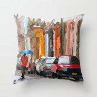 Havana Rain Throw Pillow