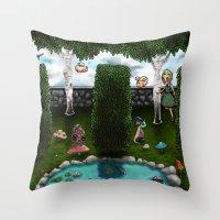 The Living Garden Throw Pillow