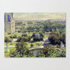 The Tuileries by Claude Monet Canvas Print