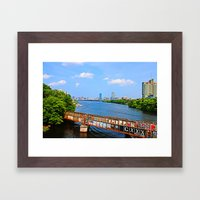 BU Bridge  Framed Art Print