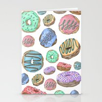 Mmm, Donuts Stationery Cards