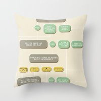 Are You A Hipster? Throw Pillow