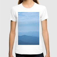 Blue Ridge Mountains Womens Fitted Tee White SMALL