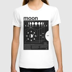 Phases of the Moon infographic Womens Fitted Tee White SMALL