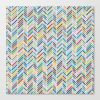 Herringbone Colour Canvas Print