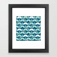 Mustache Waves Framed Art Print