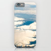Mountains with snow iPhone 6 Slim Case