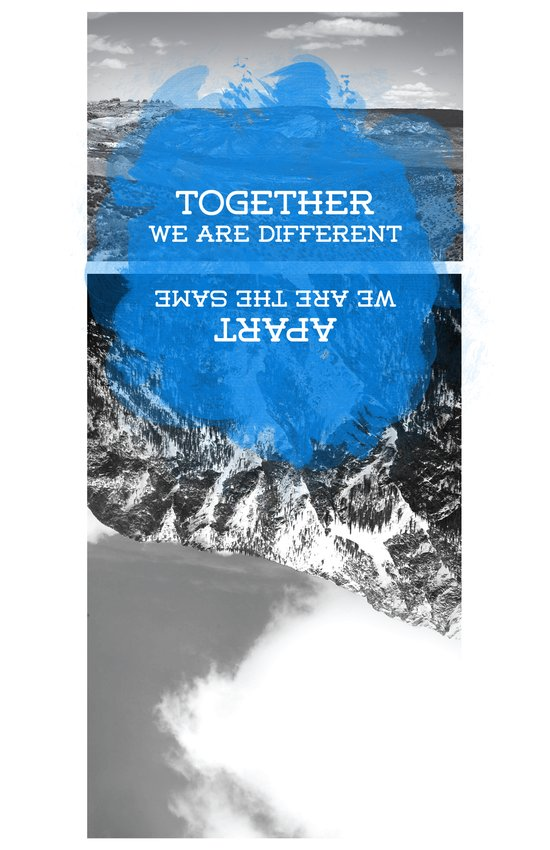together and apart Art Print