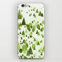Trees in the forest iPhone & iPod Skin