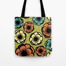 Bold Retro Flower Tote Bag