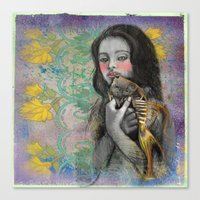One Wish Goldfish Canvas Print