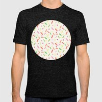 sweet things: liquorice comfit Mens Fitted Tee Tri-Black SMALL