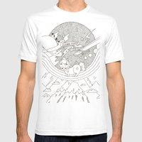 MAGIC SPACE PONY Mens Fitted Tee White SMALL