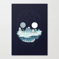Winter skull Canvas Print