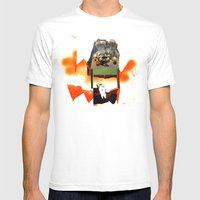 Supper With Cat Mens Fitted Tee White SMALL