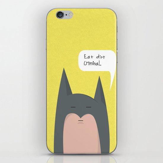 eat dirt criminal. iPhone & iPod Skin