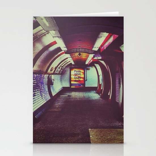 Though the tunnel Stationery Card