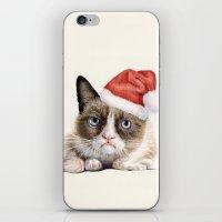 Grumpy Santa Cat iPhone & iPod Skin