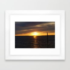 Sunset in Montauk 2 Framed Art Print