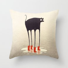 Wellies! Throw Pillow