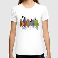 geometric T-shirts featuring geometric  by mark ashkenazi