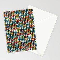 llama leaf arrow chevron dark Stationery Cards