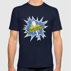 Spork! Mens Fitted Tee Navy SMALL
