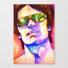 Pencil face Canvas Print