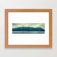 Hoh rainforest in Washington state. Framed Art Print