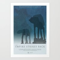 Empire Strikes Back Movi… Art Print