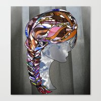 Braided Hair Canvas Print