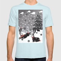 Snow Carnival Mens Fitted Tee Light Blue SMALL