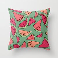 Watermelon Party Throw Pillow