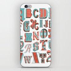 Alphabet Poster iPhone & iPod Skin