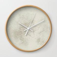 Delicate ivory star mandala Wall Clock