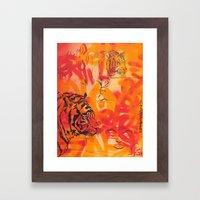Double Tiger Medley Framed Art Print