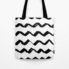 Ink Chevron Tote Bag