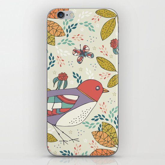 Bird and Butterfly  iPhone & iPod Skin