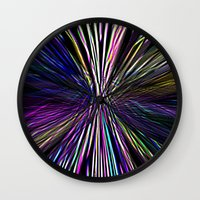 Re-Created  Supernova I by Robert S. Lee Wall Clock