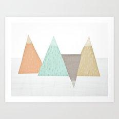 Mountains. Art Print