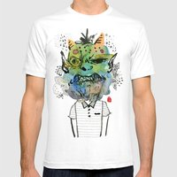 Monster me Mens Fitted Tee White SMALL